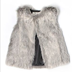 Faux fur toddler vest